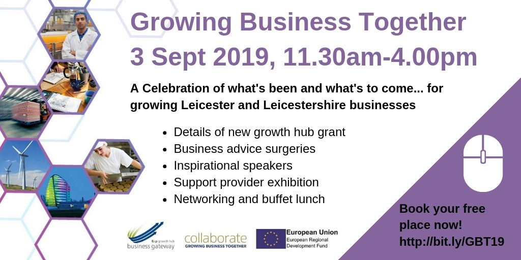 advert for Growing business together seminar